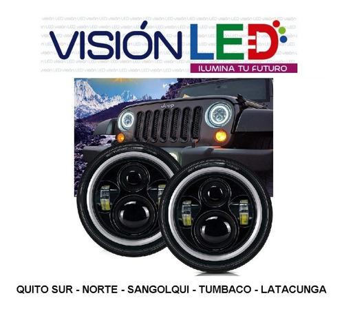 faro led de 7 pulgadas jeep camioneta ojo angel multicolor