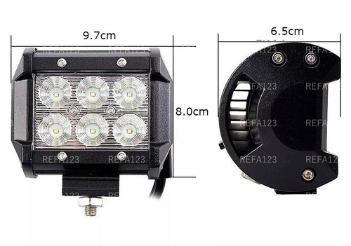 faro led dually 6 leds 1 pieza