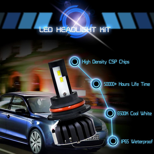 faro led pcs hb lm ip prueba agua para vehiculo lampara 5