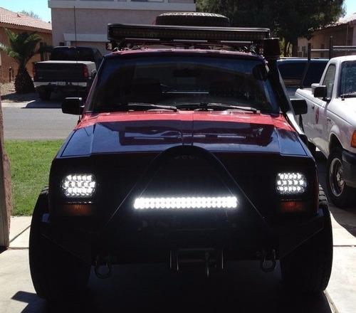 faro led rectangular 7 pulgadas 15 led 45w jeep cherokee