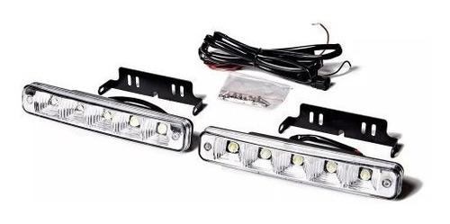 faro led rectangular auxiliar 5 led 12v moto 4x4 off road x2