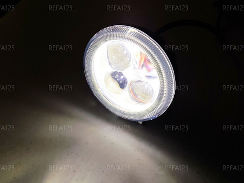 faro led redondo auxiliar 4 lupas arillo luz rojo 1 pza