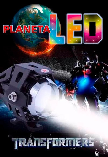 faro led transformers para moto universal u5 125w 3000lm