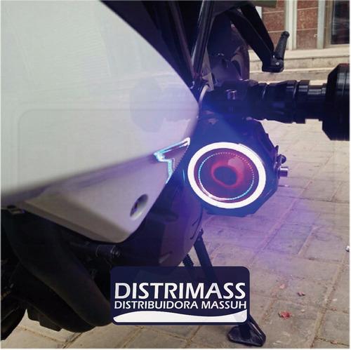 faro led transformes + ojo de angel para motos