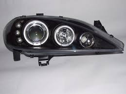 farol angel eyes led renault megane 1999 a 2005 máscara negr