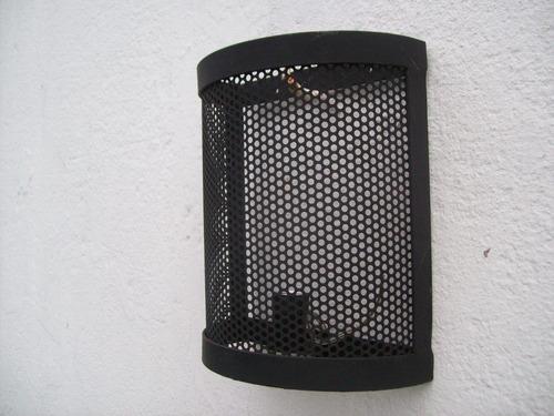 farol aplique de luz para pared de hierro