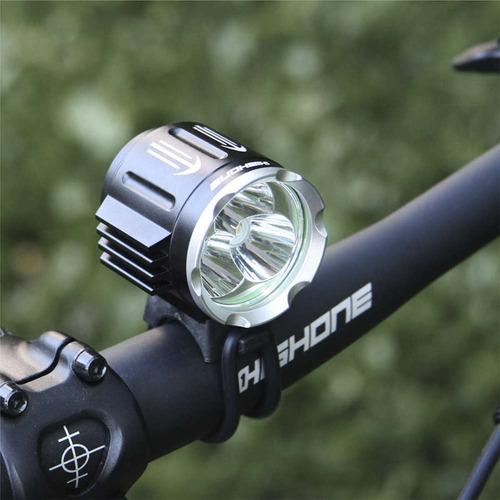 farol bike high one 3 led 2000l mtb speed completo nfe