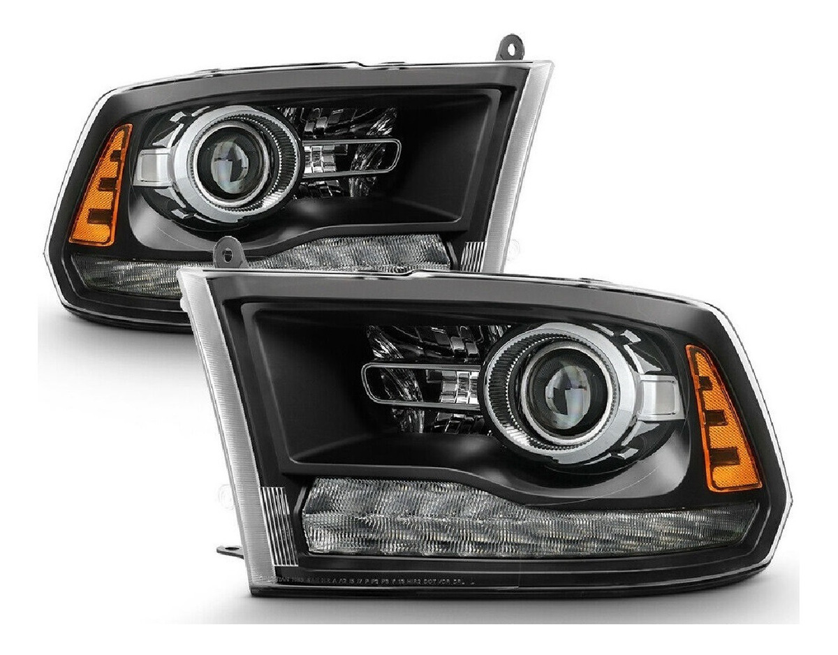 Eagleroad Farol Black Led Dodge Ram 2500 2012 Ate 2018 Par R 3 500 00