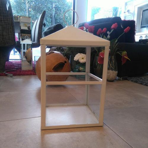 farol blanco de chapa diseño decoración va13