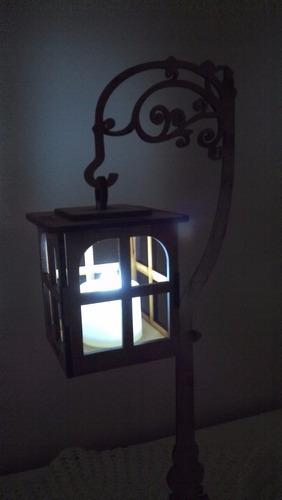 farol centro de mesa  luminoso vela led