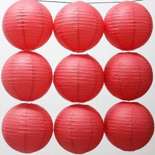 farol chino 40cm rojo x unidad colores en fuga kids