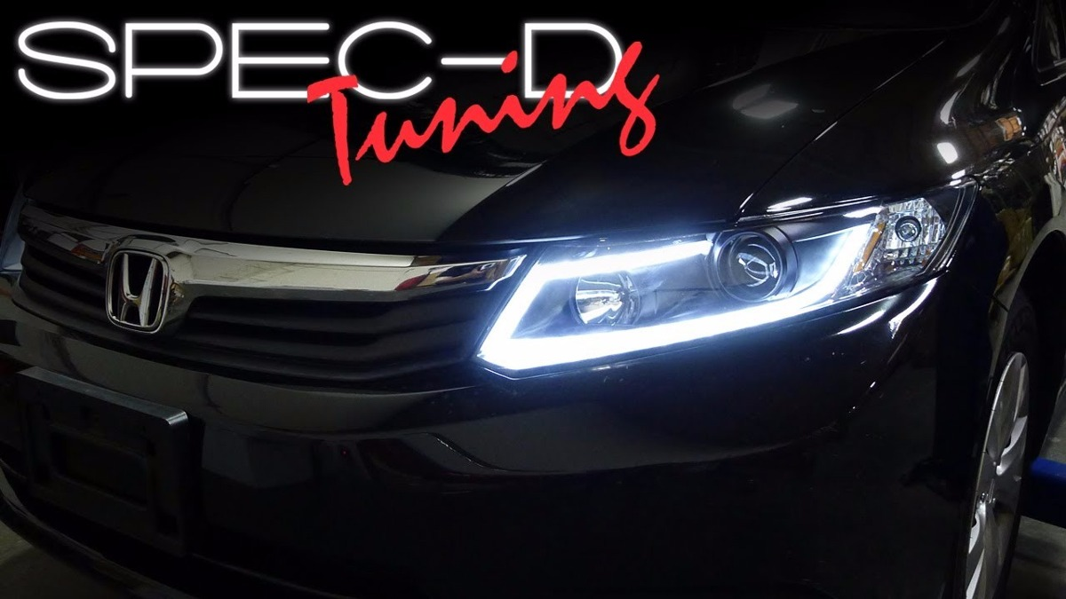 Farol Civic 2012 2013 2014 2015 2016 Drl Led Xenon Black