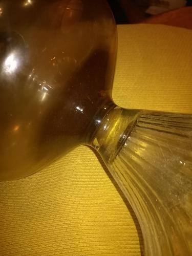 farol de mesa en vidrio antiguo gran tamaño sin tulipa