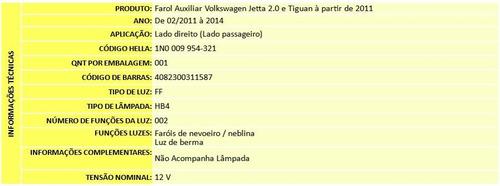farol de milha jetta 2011 2012 2013 2014 2015 original