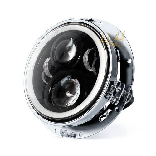 farol de milha led 7 polegada luz c suporte p carro puma gts