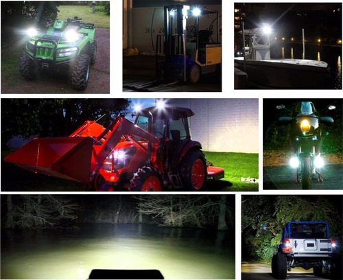 farol de milha led quadrado 27w 12v/24v carro jeep caminhão