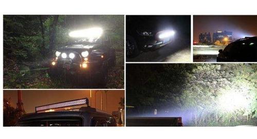 farol de milha leds quadrado 48w 12v/30v carro jeep caminhão