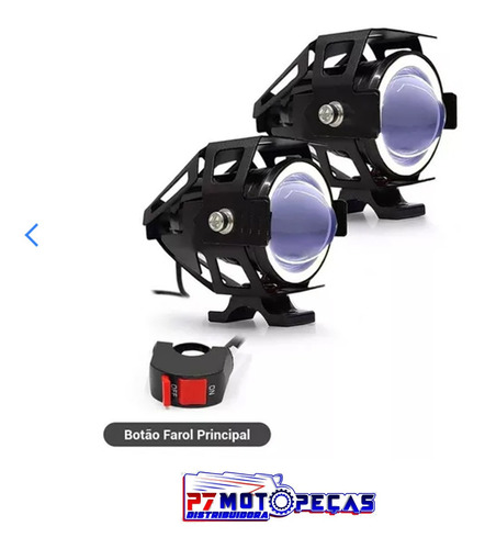 farol de milha u7 moto luz azul angel para honda titan 150