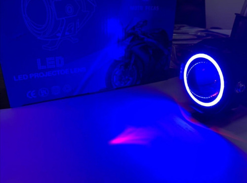 farol de milha u7 moto luz azul angel para honda titan 160