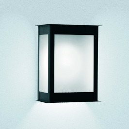 farol de pared para exterior pack x 12 con lamparas led