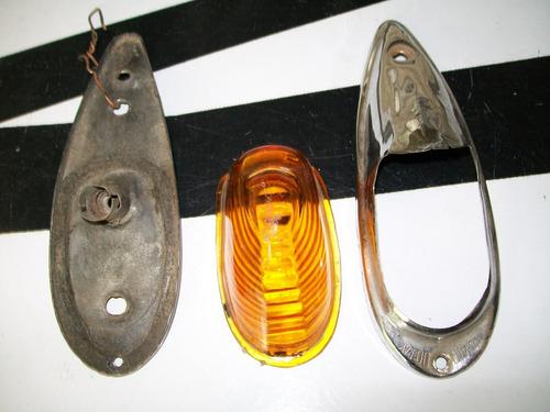 farol de posicion antiguo, moto custom