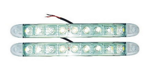 farol de rodagem led auxiliar 9 leds drl daylight diurna par
