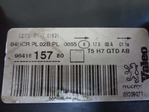 farol diant esquerdo peugeot 307 c/ regulagem original 05