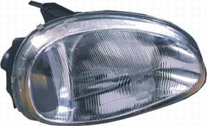 farol dianteiro direito corsa classic lente raiada