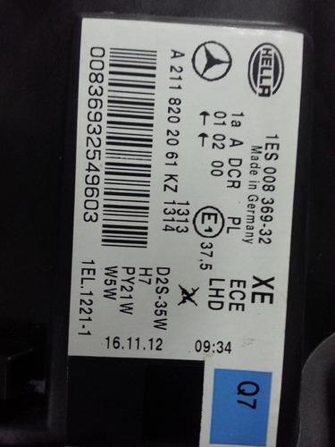farol dir. mercedes e320 e350 e500 w211 bi-xenon novo orig