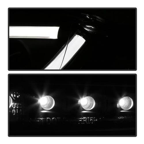 farol drl led audi a4 2006 á 2008 projetor máscara negra