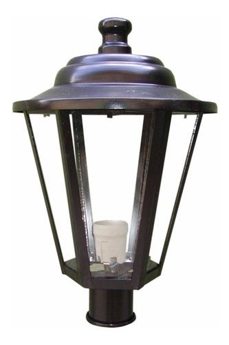farol exterior columna lampara led 1 luz hexagonal m1030
