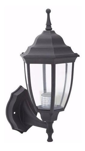 farol exterior lampara aplique colonial negro jardin ml1375