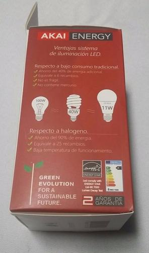 farol exterior m1-pack x 9 unidades  lamparas led incluidas