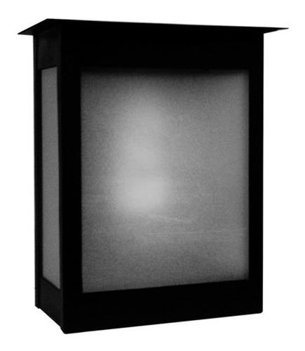 farol exterior pared hierro p/ lampara led 220v moderno f147
