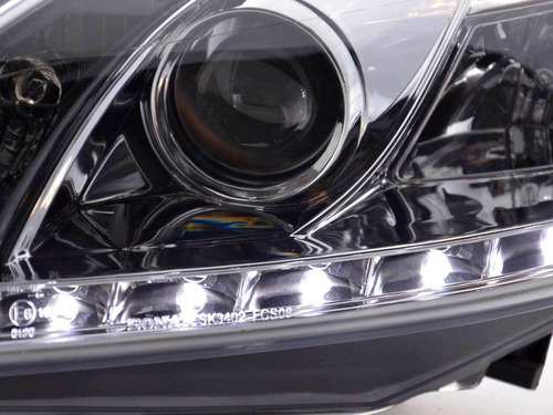farol ford focus 2009 a 2013 projector barra led cromado
