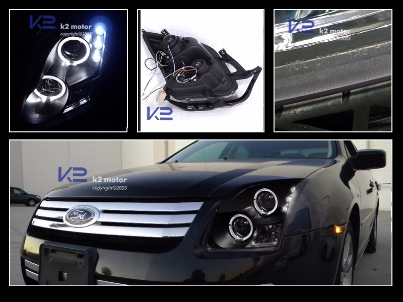 Farol Ford Fusion 06 07 08 09 Projetor Black Led O Par R