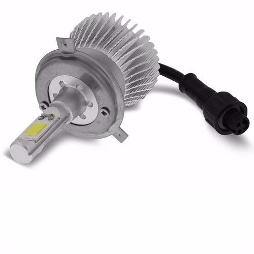 farol headlight led h4 6000k branca estilo xenon 12v 24v 32w