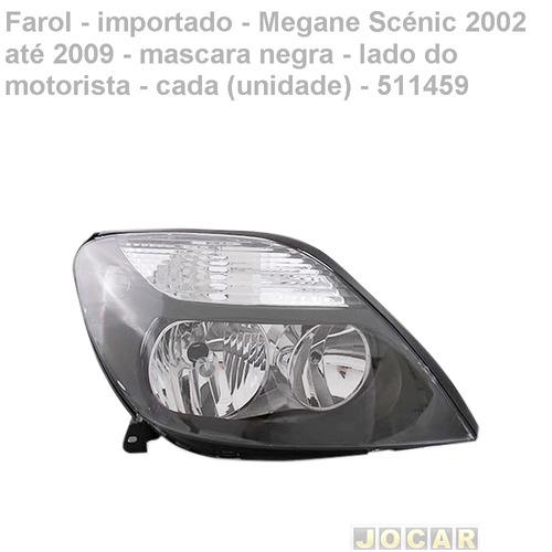 farol-importado-megane scénic 2002/2009-mascara negra-esq