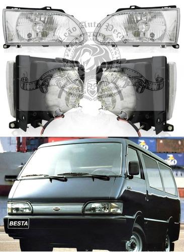 farol kia besta de 1995/1997 novo 2.7 de acrilico lado esq.
