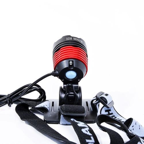 farol lanterna bike monster cree t6 luz lanterna de cabeça
