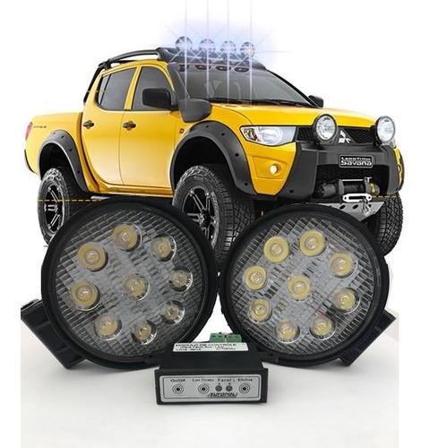 farol led 4x4 jipe buggy off road fusca universal par 27w
