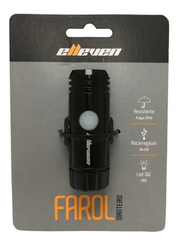 farol led bateria usb elleven 150 lumens sinalizador bike