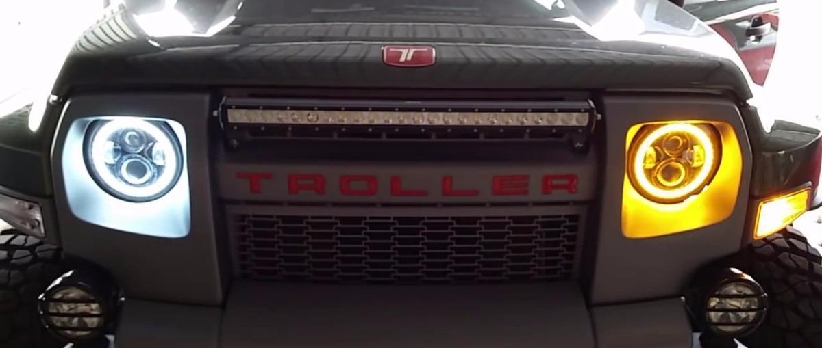 farol led projetor defender wrangler troller jeep angel. Black Bedroom Furniture Sets. Home Design Ideas