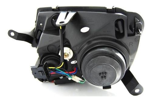 farol led renault duster 2011 a 2015 projetor máscara negra