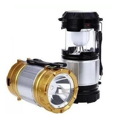 farol linterna led recargable a energia solar y 220- logikom