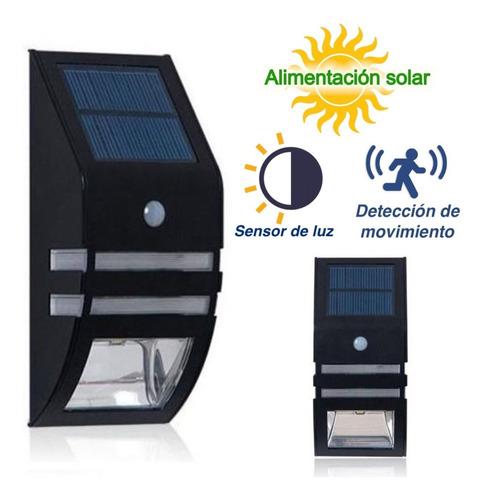 farol luminaria exterior solar led pared 2en1 con sensores