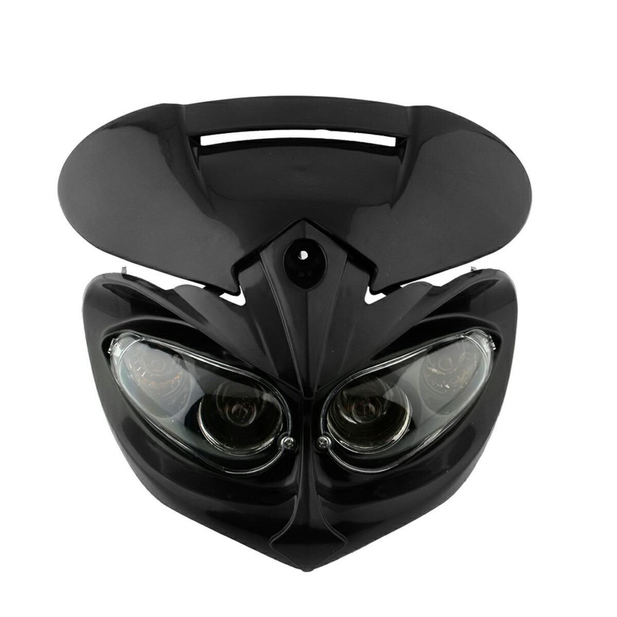 Farol mascara universal para motos c pisca integrado r for Farol exterior de pared