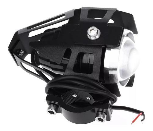 farol milha luz led auxiliar neblina moto tipo xênon par 2pç