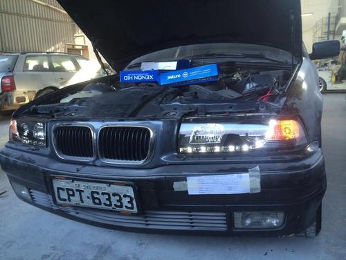 farol modelo r8 para bmw e36 325 de 1993 até 1998