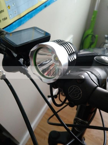 farol p/ bicicleta bike cree xml t6  autonomia + de 11 horas